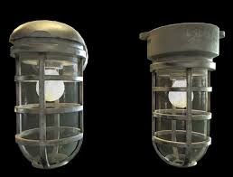 3d model industrial cage light collection game ready pbr textures