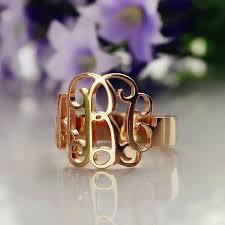 Monogram Rings Gold 14 Best ソリッドローズゴールドジュエリー Images On Pinterest