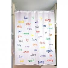 Words Shower Curtain Educational Shower Curtain 1st Grade Sight Words 100 Days