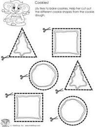 preschool curved line scissors skills worksheet worksheets