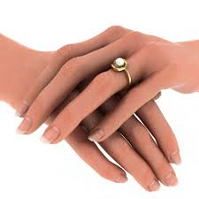 10mm ring 10mm pearl engagement ring for in yellow gold jewelocean