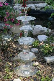 Recycled Garden Decor Glass Pyramid Jpg