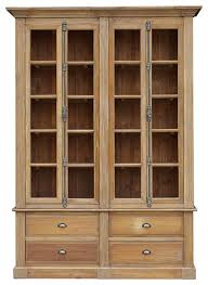 Wooden Bookcase With Glass Doors Bookcases Ideas Amish Bookcases Furniture In Solid Wood With With
