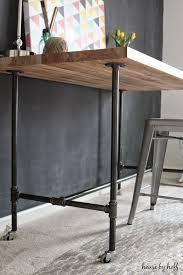 Diy Desk Pipe Diy Piping Table House By Hoff