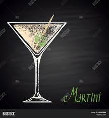 martini glass vector colored chalk drawn illustration vector u0026 photo bigstock