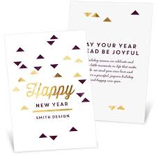 new year new address cards new years cards custom designs from pear tree
