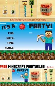 kara u0027s party ideas minecraft birthday party free printables