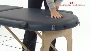 Oakworks Massage Tables by Demonstration Of Porta Lite Oval Massage Table From Massage