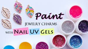 make uv resin charms with nail uv gels paint jewelry charms with