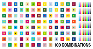 2 color combination 100 combinations of 2 color from pantone color library