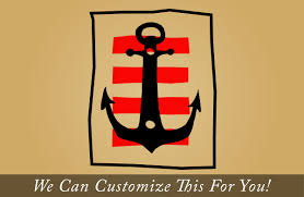pirate decor a boat anchor with strips antiqued and stylized for