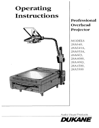 Overhead Door Model 456 Manual by Dukane Projector 28a653a User Guide Manualsonline Com