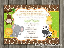 jungle themed baby shower jungle theme baby shower invitations marialonghi