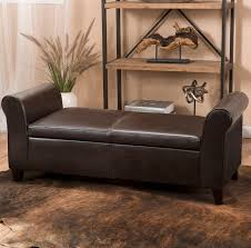 faux leather bedroom benches you u0027ll love wayfair