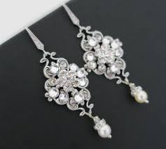 vintage wedding earrings chandeliers bridal earrings vintage wedding earrings chandelier pearl dangle