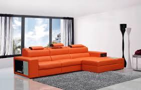 bonded leather sectional sofa mini contemporary orange bonded leather sectional sofa