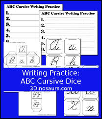 writing practice abc cursive dice a fun dice game to review your