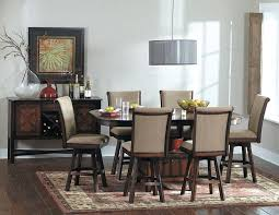 Homelegance  Westwood Counter Height Dining Table Set With - Counter height dining table swivel chairs