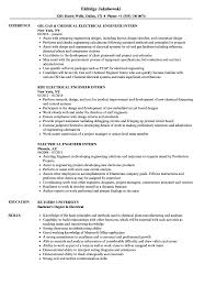 electrical engineering resume for internship electrical engineer intern resume sles velvet jobs
