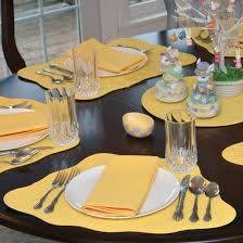 placemats for round table wedge placemats bright yellow quilted wedge shaped round table