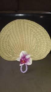 raffia fans diy embellished raffia fan fans weddings and wedding budgeting