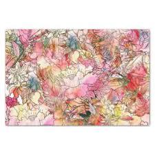 floral tissue paper watercolor flower craft tissue paper zazzle