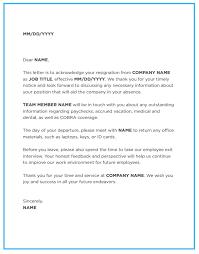 resignation letter sle acceptance letter of resignation for