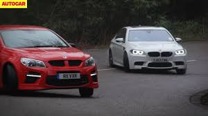 vauxhall vxr8 vauxhall vxr8 takes on the bmw m5 video