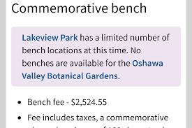 Bench Locations Fundraiser By Darcie Aubin Memorial Bench For Cameron Bailie