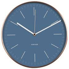 silent wall clocks karlsson 27 5cm minimal with copper case round modern silent wall