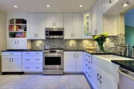 modern design kitchen cabinets glossy dark floor traditional
