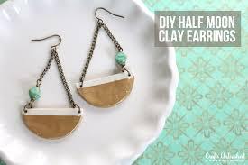 earrings diy diy earrings how to half moon clay pendants