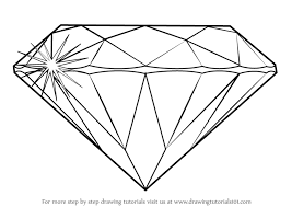 draw learn how to draw a diamond everyday objects step by step