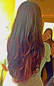 new hair cut and color long hair with layers ion medium intense