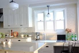 white kitchen subway tile backsplash home design ideas
