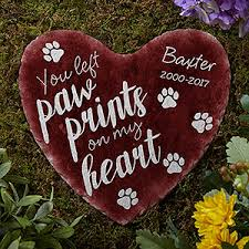 personalized cat gifts personalized pet memorial heart garden paw prints on my heart