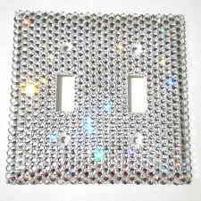 clear light switch cover luxury double light switch cover plate hand bedazzled with real
