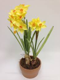 silk flower arrangements buy online 2 u s daffodil silk flower arrangement ceramic pot