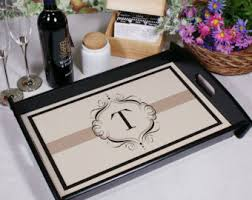personalized serving trays platters monogrammed platter etsy