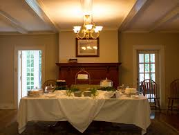 a wedding reception at the house in the woods at maryville college
