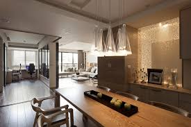 indoor modern interior design apartment with dining room and