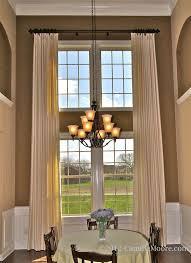 Long Drapery Panels Windows Window Treatments For Large Windows Decorating 38 Images