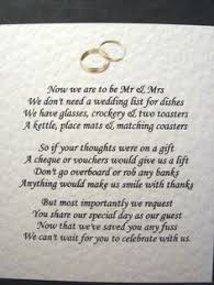 wedding money registry only want money for wedding registry poem search