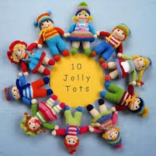 jolly tots small knitted dolls knitting pattern by dollytime