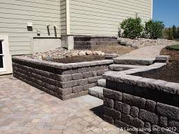 Patio Paver Ideas by Retaining Wall Ideas Under Deck With Retaining Wall U0026 Steps