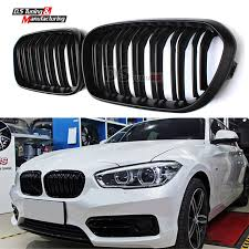 black bmw 1 series aliexpress com buy dual slat black front kidney grill grille for