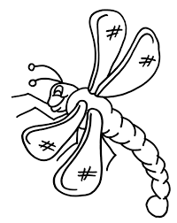 dragonfly coloring page free here