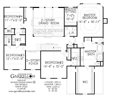 Colonial Style Floor Plans by Oxford D House Plan House Plans By Garrell Associates Inc