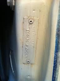 1966 impala need help to decode body tag chevy impala forums