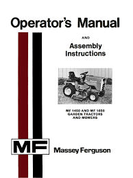 massey ferguson mf 1450 and mf 1650 garden tractors and mowers